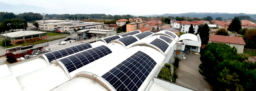 impianto fotovoltaico coperture a botte