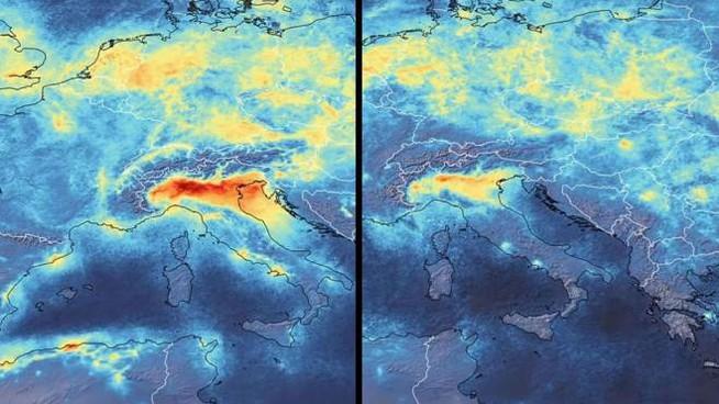 effetto coronavirus riduzione inquinamento smart working nord italia