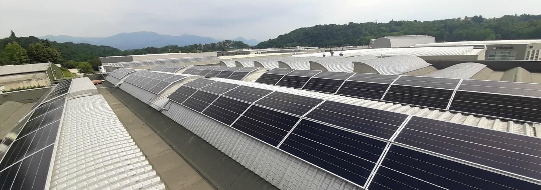impianto fotovoltaico aziendale pannelli solari azienda brenna corapack