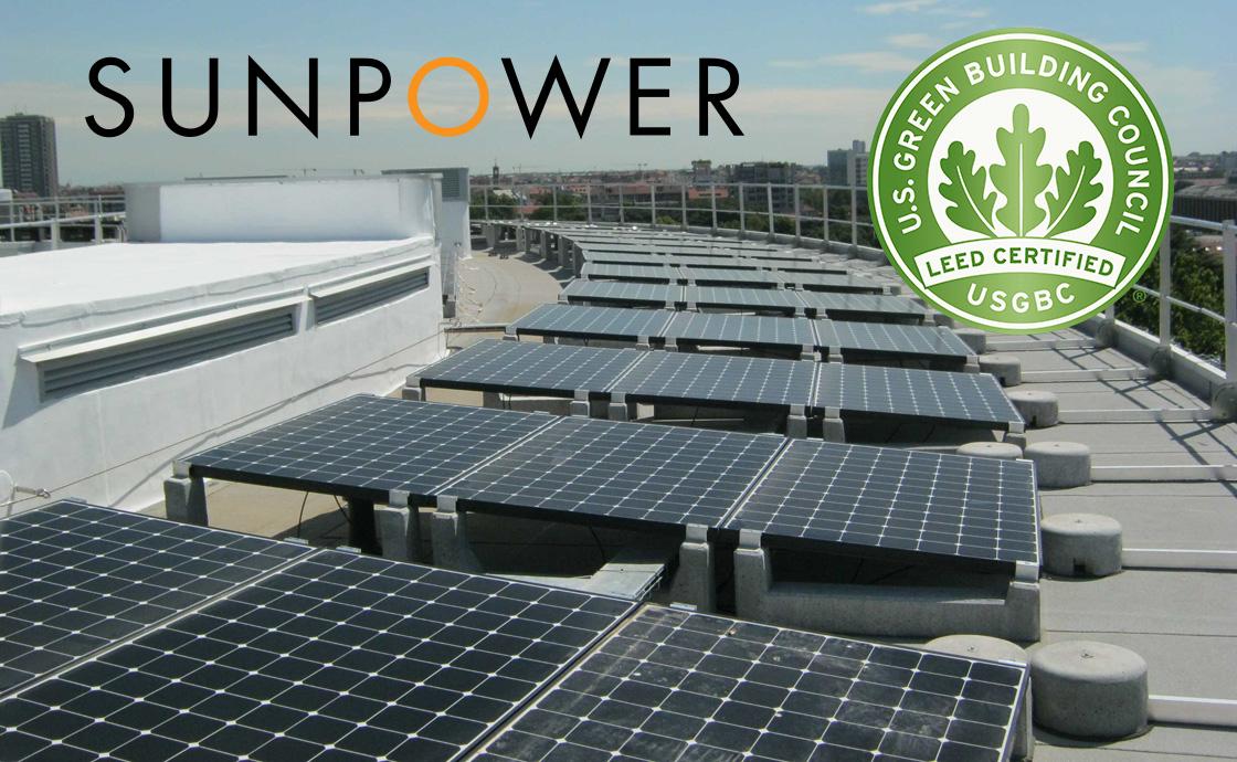 Certificazione LEED per gli impianti e i pannelli fotovoltaici SunPower