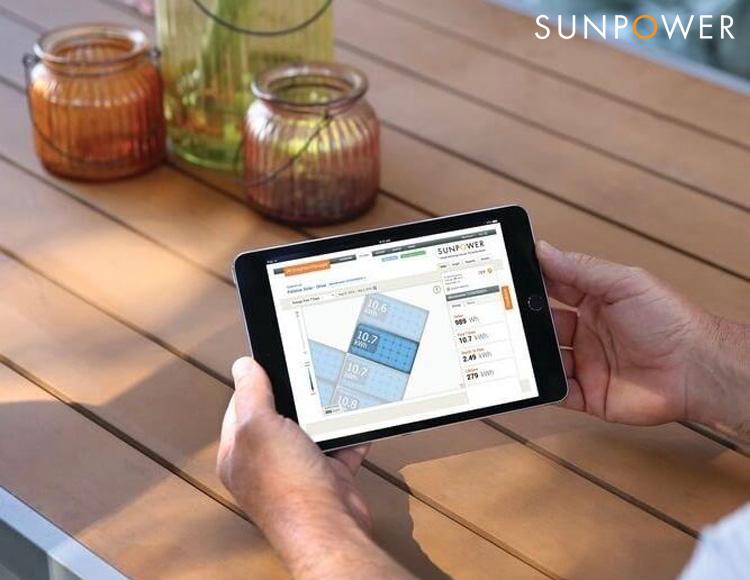 Monitoraggio impianto fotovoltaico SunPower Maxeon 5 AC
