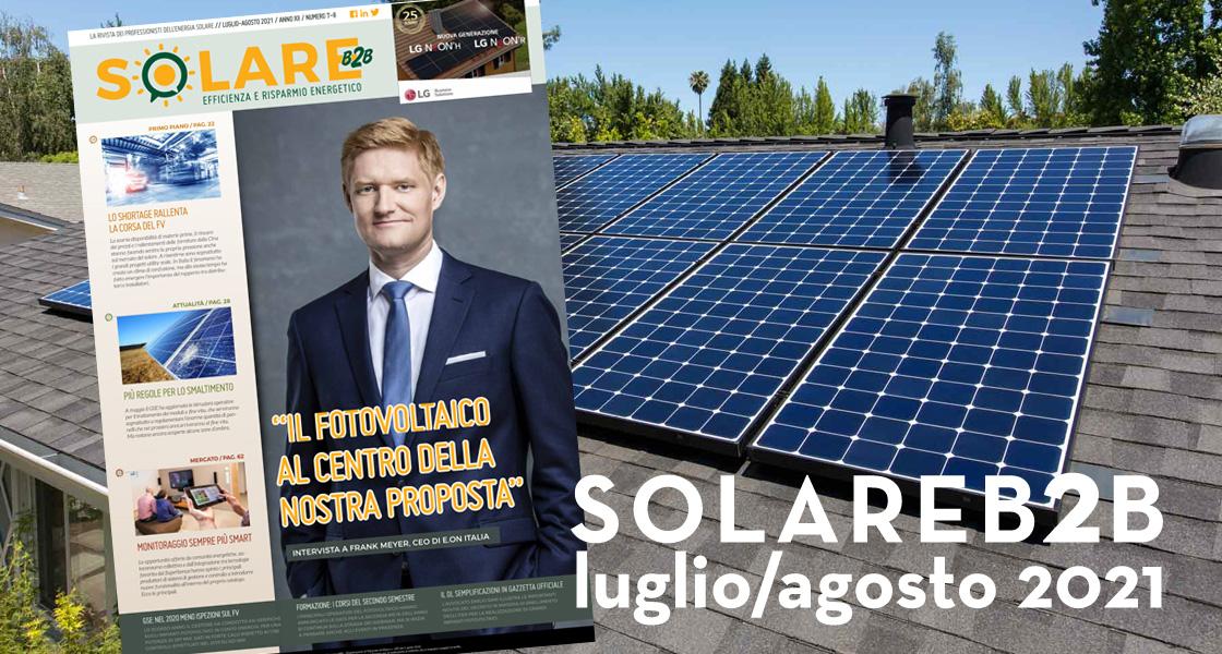 SolareB2B: disponibile il numero di luglio/agosto 2021 della rivista