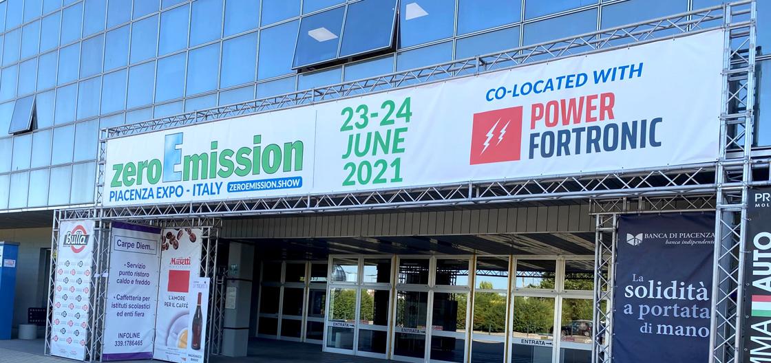 Ingresso fiera di Piacenza con evento ZeroEmission 2021